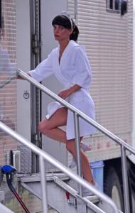 Christina Ricci in a Bathrobe