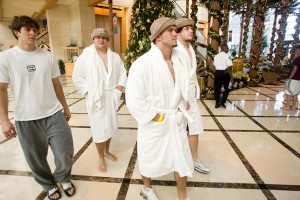 Keep the Pool Party Going with Bathrobes from Boca Terry