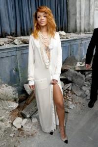 Celebrity Robe Shot Rihanna's Bathrobe Dress