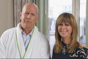 Celebrity Robe Shot - Bruce Willis