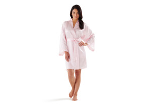 How Our Pink Satin Robe Makes Staying in Better